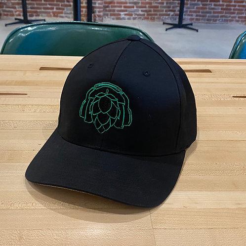 HiDef Hop Headphone Logo Flexfit Baseball Hat