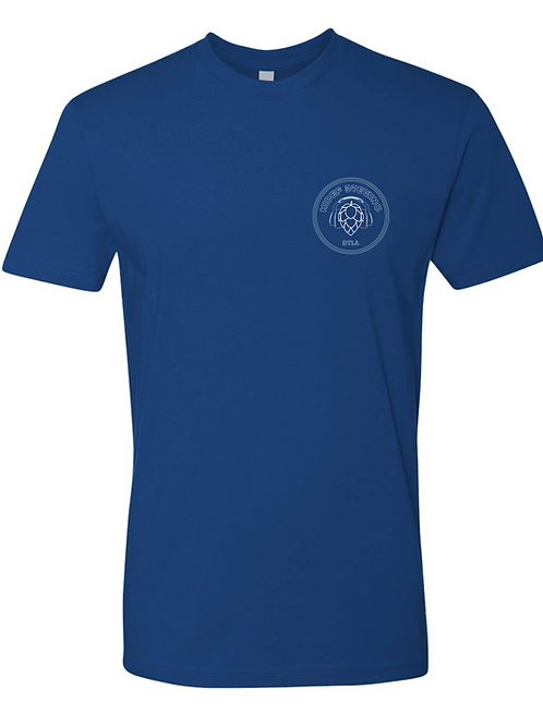 HiDef 2.0 Hop Headphones Logo Blue T-shirt