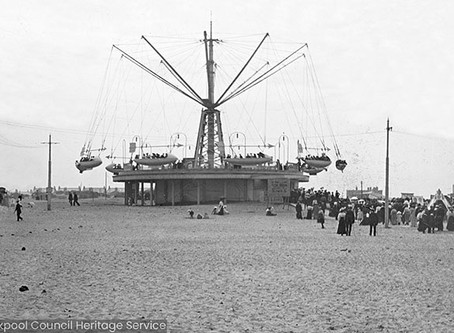 Sir Hiram Maxim's 'Captive Flying Machine' at Pleasure Beach, Blackpool 1904