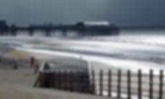 Blackpool promenadem centtral pier and beach