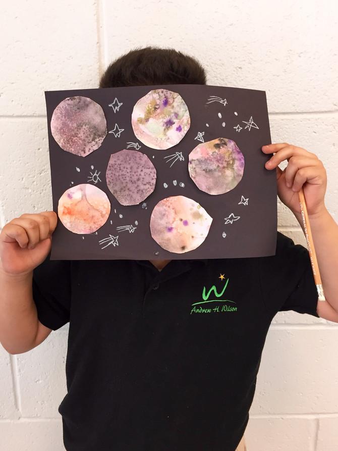 Imaginary Planets w/ Watercolor & Salt