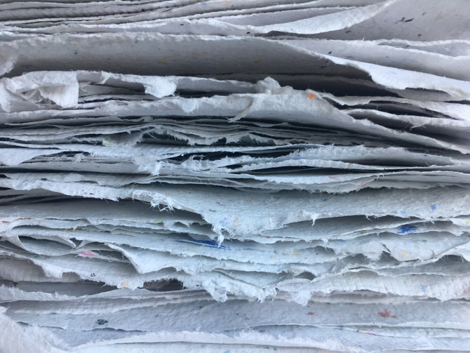 Recycled Papermaking: Nature Artists Camp at the Louisiana Children's Museum