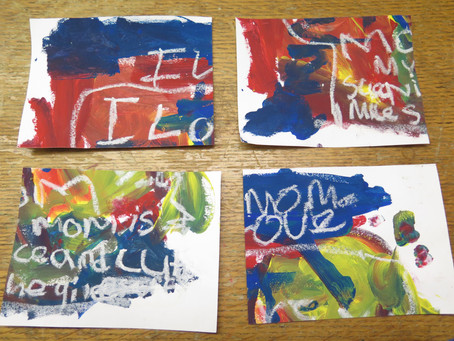 3rd Grade - Jean-Michel Basquiat, Jazz-Inspired Painting, Mind Maps, and Getting Your Work Out There