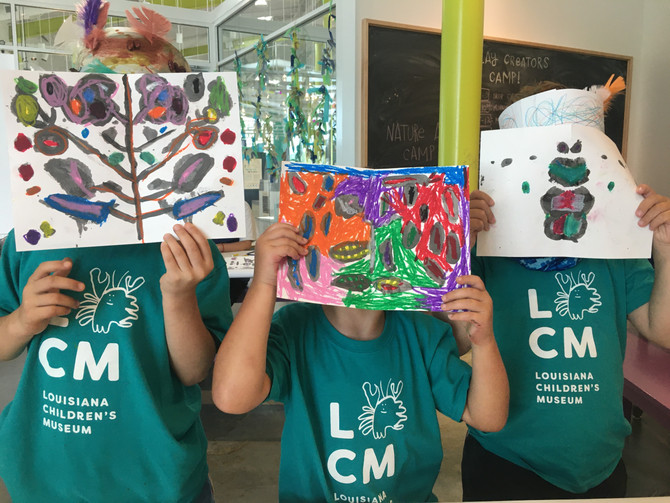 Symmetry Ink Paintings: Nature Artists Camp at the Louisiana Children's Museum