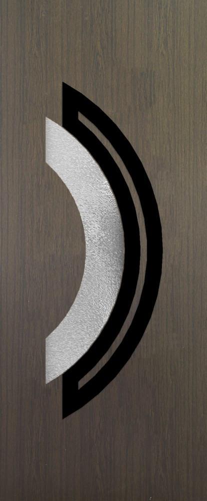 Mannheim Sötéttölgy Glas 1 csincsilla fekete minta