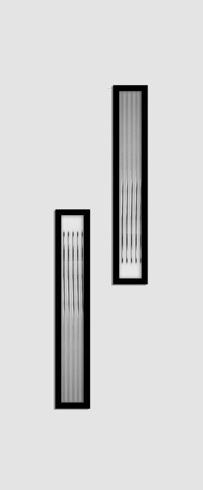 Jena Glas 2 matt flutes fekete minta