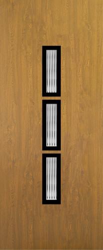 Bayern Aranytölgy Glas 3 matt flutes fekete minta