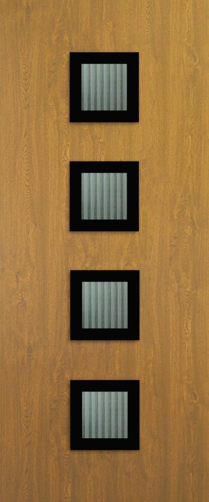 Amberg Aranytölgy Glas 4 matt flutes fekete minta