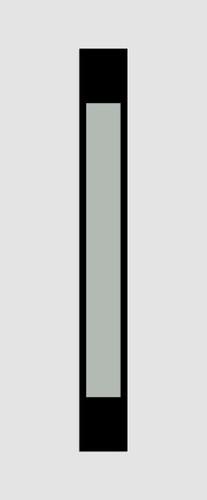 Triberg Glas 1 homokfúvott fekete minta
