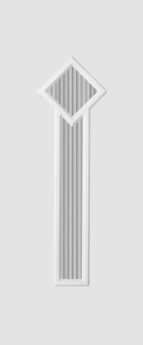 Hannover Glas 2 fehér matt flutes