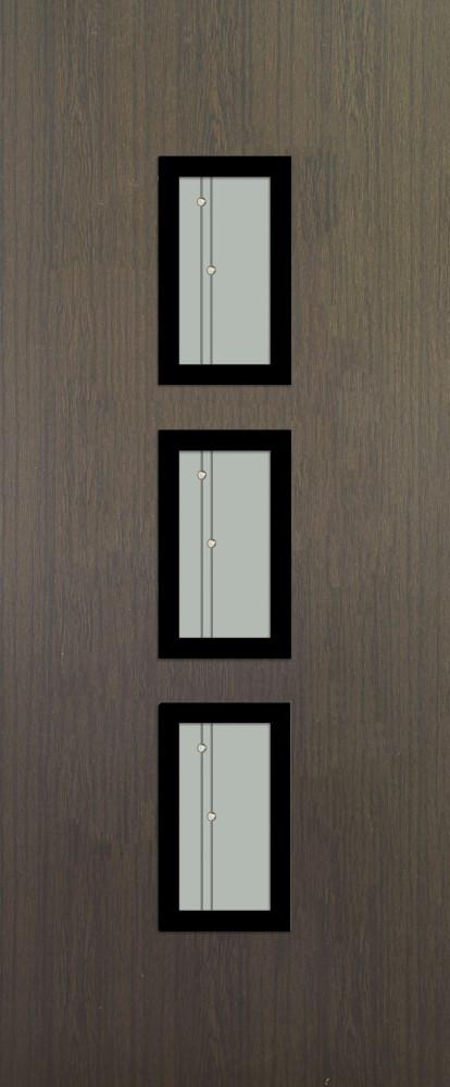 Friedberg Sötéttölgy Glas 3 DS241 fekete minta