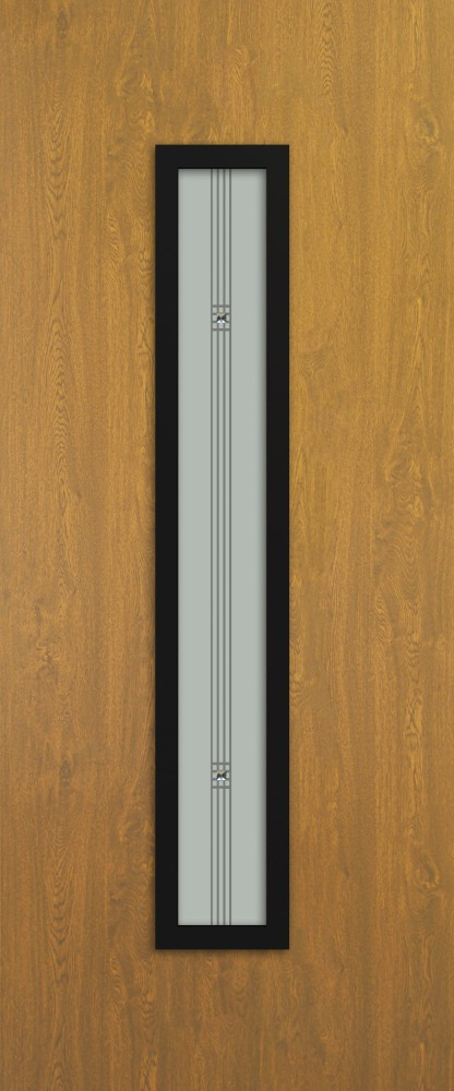 Landau Aranytölgy Glas 1 DS184 fekete minta