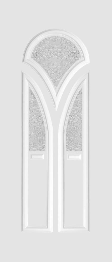 Frankfurt Glas 3 fehér matt delta