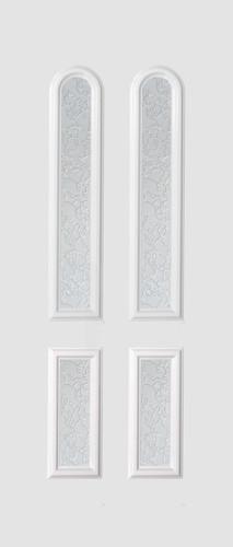 Basel Glas 4 fehér matt delta