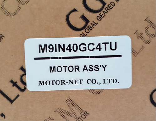 Motor-Net Motor Ass'y M9IN40GC4TU