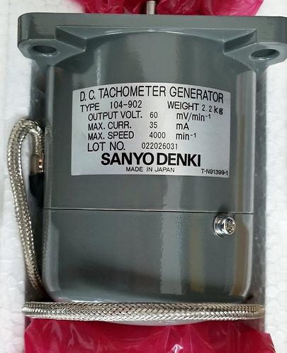 SANYO DENKI DC Tachometer Generator 104-902