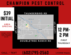 Monthly Pest Control First Thursday Afternoon