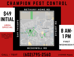 Monthly Pest Control First Wednesday