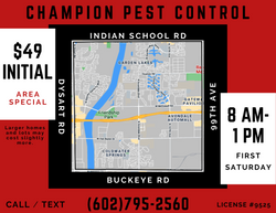 Monthly Pest Control First Saturday