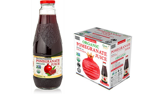 Organic Pomegranate Juice 6 x 33.8 Fl.Oz (1000 ml)