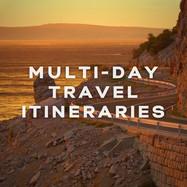 Multi-day travel itineraries