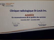 Certificat du conseil québécois d'agrément