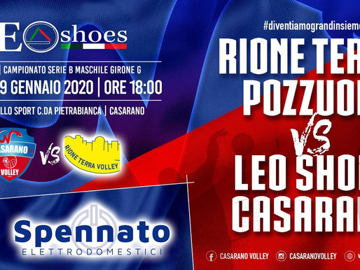 LEO SHOES CASARANO, BIG MATCH CONTRO POZZUOLI!