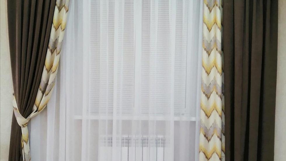 """Комплект ночных штор """"Банановое брауни"""""""