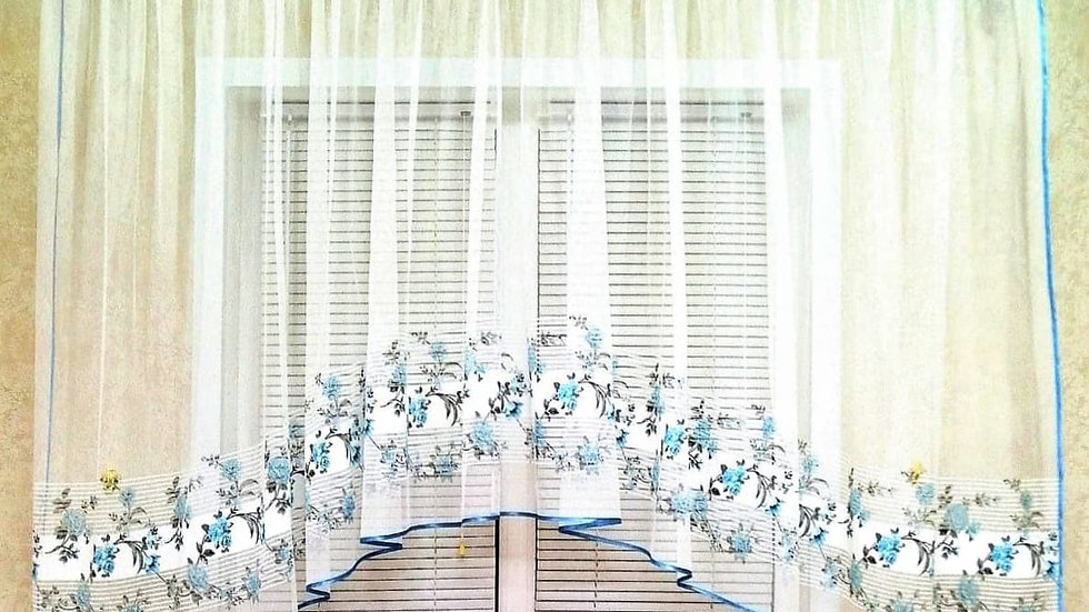 Бело-голубой тюль-арка 2