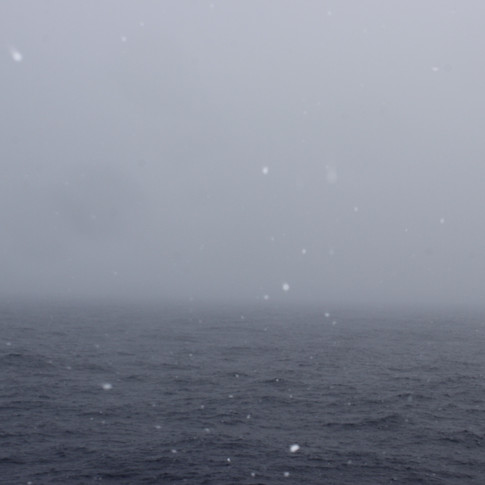 Ice falling into the sea