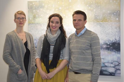 Curator Lena Sulik, Katrine Claassens and Associate Professor Marcello Vichi