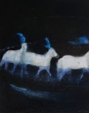 Blue Circus Horses From Gif