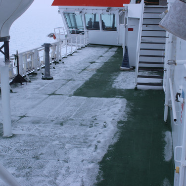 The Cape Agulhas has external heating on all decks