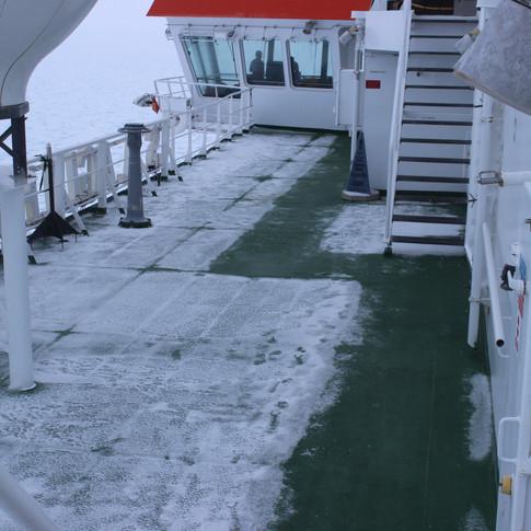The Cape Agulhas has external heating on all decks
