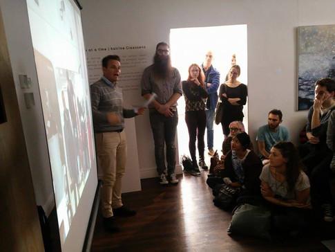 Marchello Vichi giving his talk