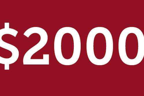 $2000 H4M Donation