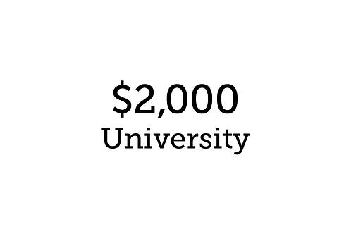 $2,000 University Student