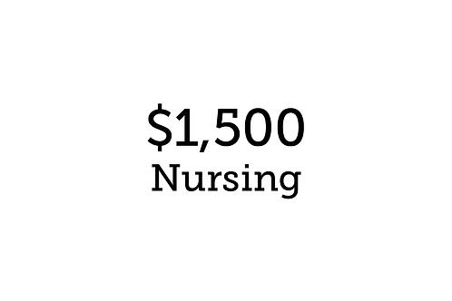 $1,500 Nursing
