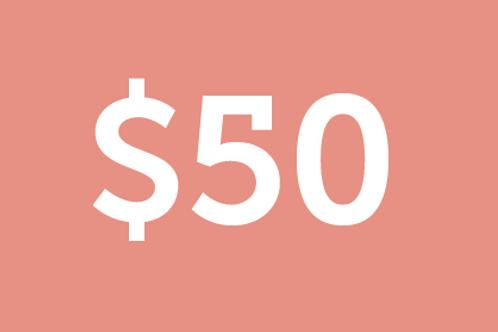 $50 H4M Donation