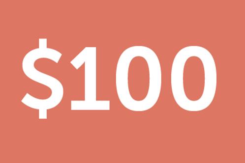 $100 H4M Donation