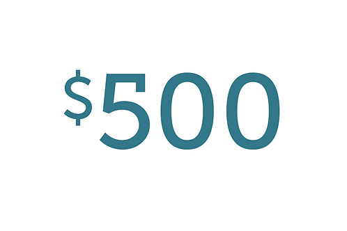 $500 Gift to Water
