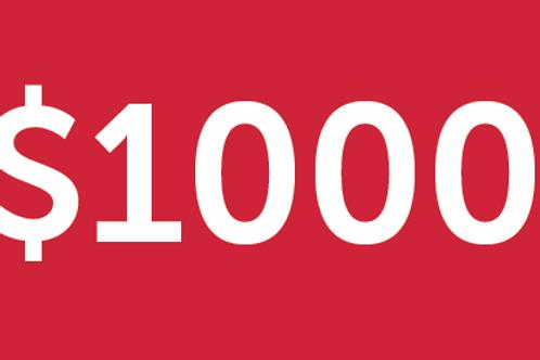 $1000 H4M Donation