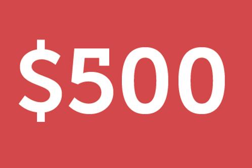 $500 H4M Donation