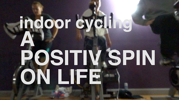 Positiv Spin indoor cycling class video