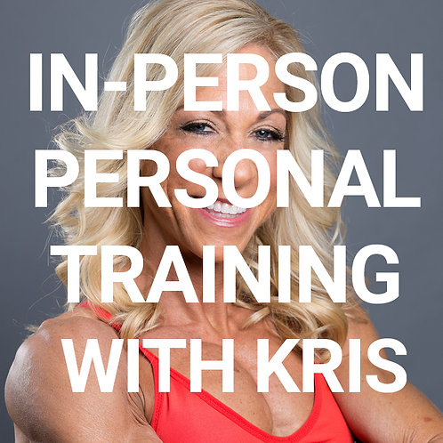 In person personal training with Kris Shanahan
