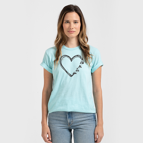 Camping Heart T-shirt (youth and adult)
