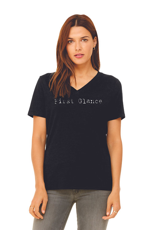 Bella Canvas Ladies Relaxed Jersey V-Neck