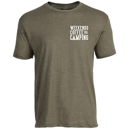 Weekends, Coffee and CampingT-shirt (youth and adult)