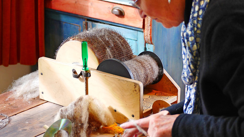 Spinning, weaving, and dyeing