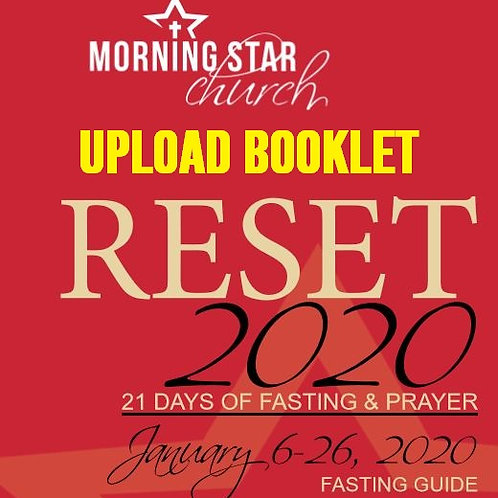 RESET 2020 21-Day Fast Guide & Journal (Booklet)